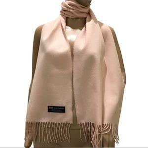100% Cashmere Blush Pink Scarf